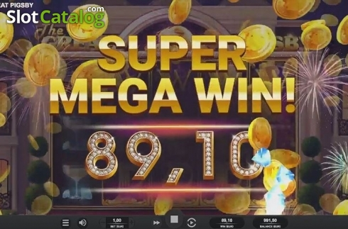 Super Mega Win. The Great Pigsby (Video Slot from Relax Gaming)