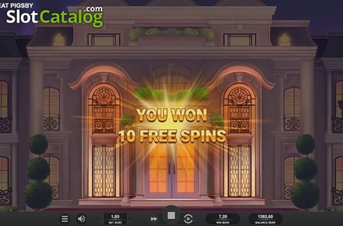 Free Spins Triggered. The Great Pigsby (Video Slot from Relax Gaming)