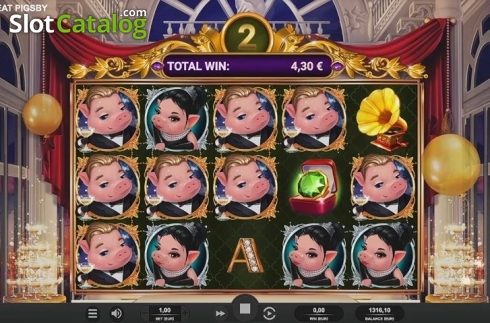 Free Spins Reels. The Great Pigsby (Video Slot from Relax Gaming)