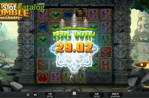 Skärm3. Temple Tumble (Video Slot från Relax Gaming)