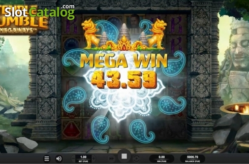 Skärm4. Temple Tumble (Video Slot från Relax Gaming)