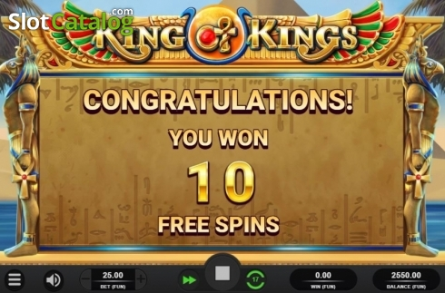 Free Spins Awarded. King of Kings (Video Slot from Relax Gaming)