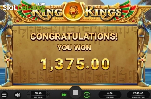 Free Spins Win. King of Kings (Video Slot from Relax Gaming)