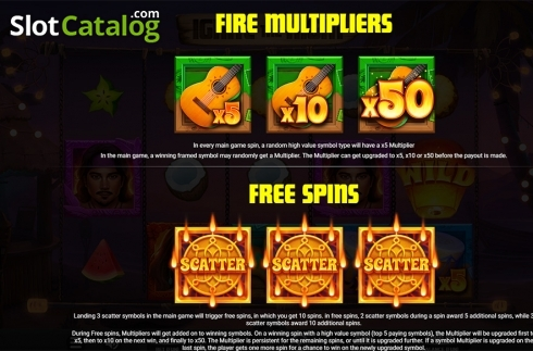 Paytable . Ignite The Night (Video Slot from Relax Gaming)