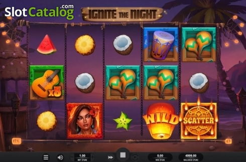 Reel Screen. Ignite The Night (Video Slot from Relax Gaming)