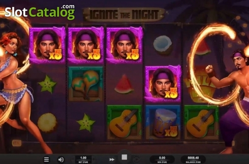 Win Screen. Ignite The Night (Video Slot from Relax Gaming)