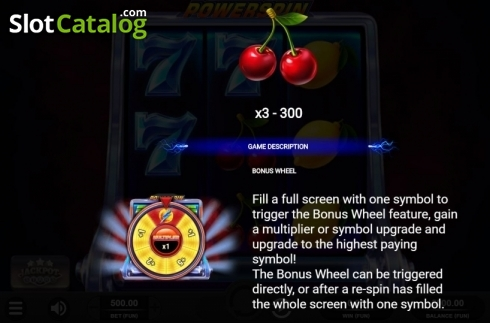Features 1. Powerspin (Video Slot from Relax Gaming)