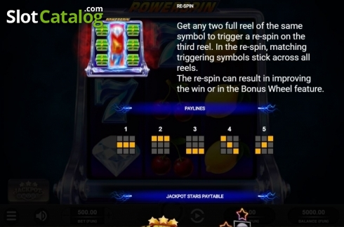 Features 2. Powerspin (Video Slot from Relax Gaming)