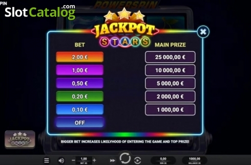Jackpot. Powerspin (Video Slot from Relax Gaming)