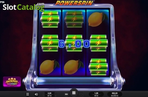 Win Screen 1. Powerspin (Video Slot from Relax Gaming)