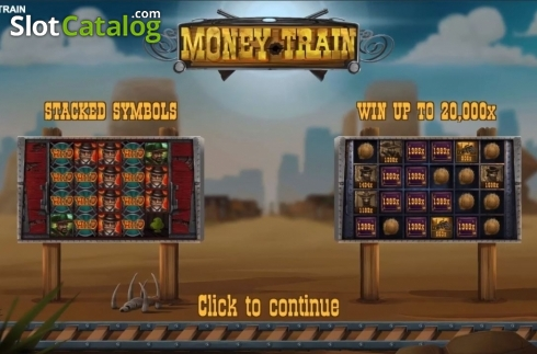 Start Screen. Money Train (Relax Gaming) (Video Slot from Relax Gaming)