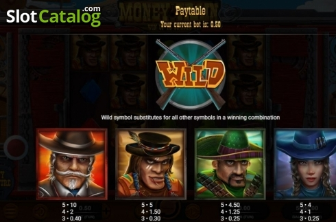 Paytable 1. Money Train (Relax Gaming) (Video Slot from Relax Gaming)