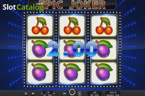 Win Screen. Epic Joker (Video Slot from Relax Gaming)