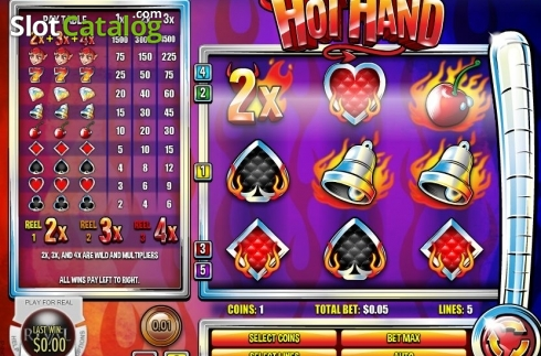 Reel Screen. Hot Hand (Video Slot from Rival Gaming)
