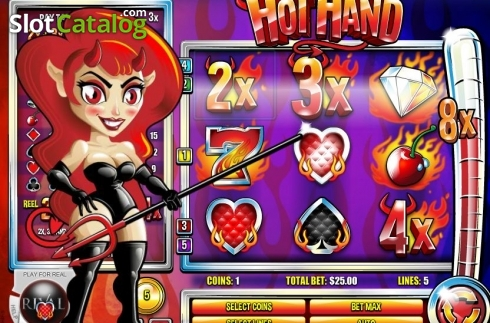 Big Win. Hot Hand (Video Slot from Rival Gaming)