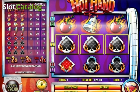 Low Win. Hot Hand (Video Slot from Rival Gaming)