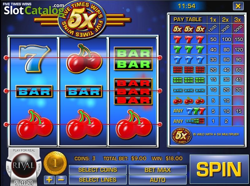 Five Times Wins Slot ᐈ Claim a bonus or play for free!