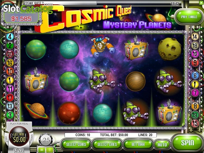 Cosmic Quest Mystery Planets Slot - Review and Free Game