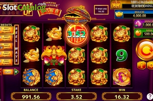 Game Screen. Jin Ji Bao Xi: Endless Treasure (Video Slot from SG)