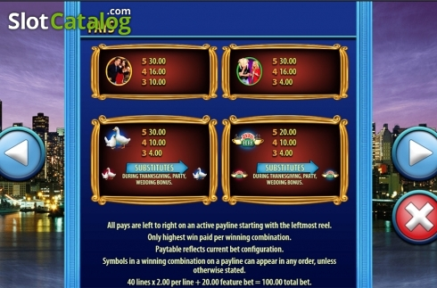 Paytable 3. Friends (SG) (Video Slots from SG)