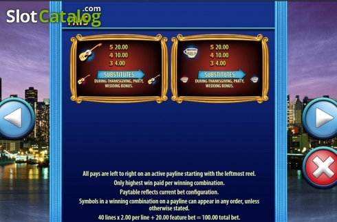 Paytable 4. Friends (SG) (Video Slots from SG)