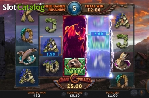 Free Spins 3. Giant Grizzly (Video Slot from SUNFOX Games)