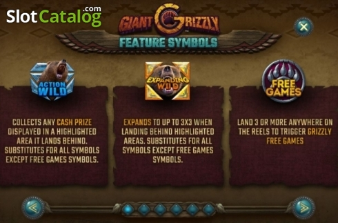Features 1. Giant Grizzly (Video Slot from SUNFOX Games)
