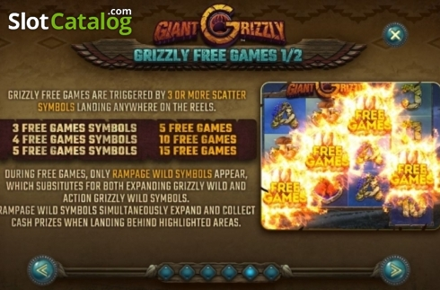Features 3. Giant Grizzly (Video Slot from SUNFOX Games)