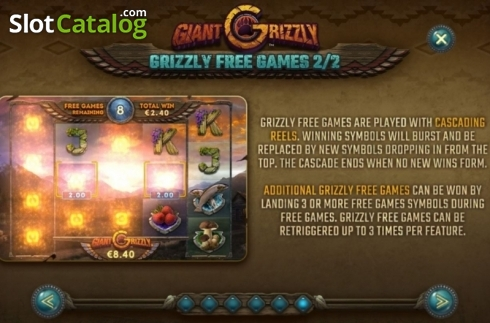 Features 4. Giant Grizzly (Video Slot from SUNFOX Games)