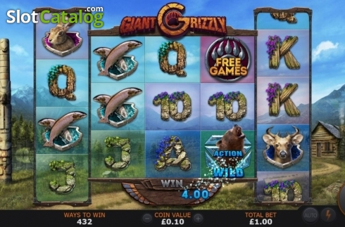 Win Screen. Giant Grizzly (Video Slot from SUNFOX Games)