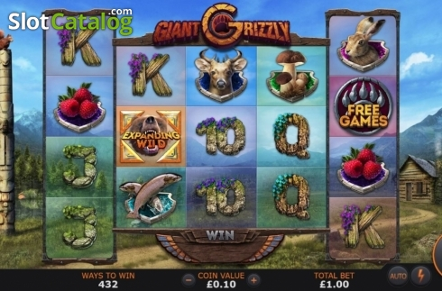 Reel Screen. Giant Grizzly (Video Slot from SUNFOX Games)