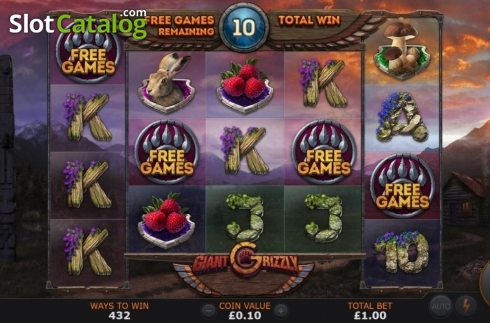 Free Spins 2. Giant Grizzly (Video Slot from SUNFOX Games)
