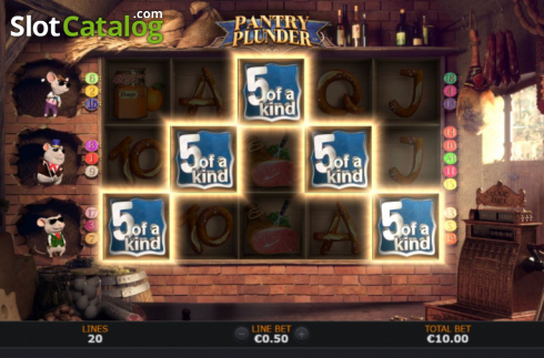 5 of a Kind. Pantry Plunder (Video Slot from SUNFOX Games)