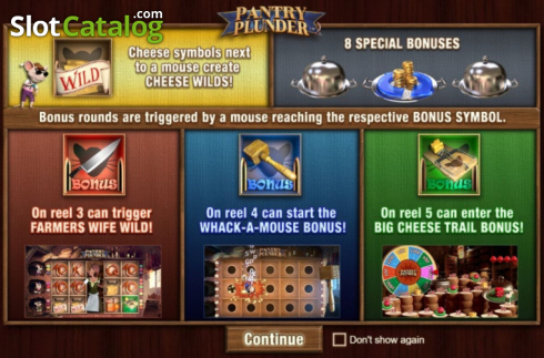 Start Screen. Pantry Plunder (Video Slot from SUNFOX Games)