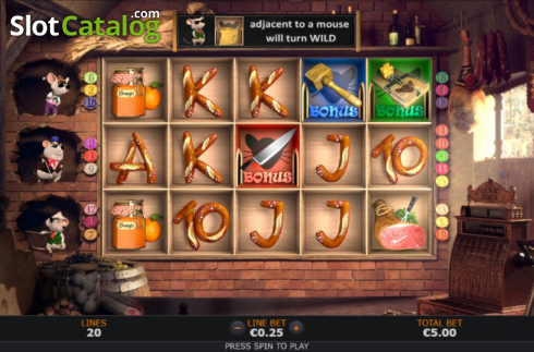 Reel Screen. Pantry Plunder (Video Slot from SUNFOX Games)