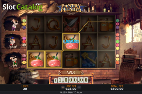 Win Screen 1. Pantry Plunder (Video Slot from SUNFOX Games)