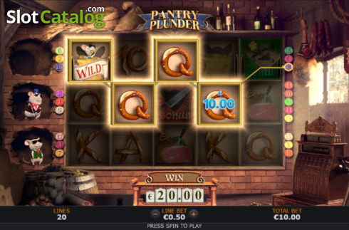 Win Screen 2. Pantry Plunder (Video Slot from SUNFOX Games)