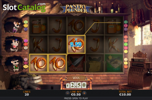 Win Screen 3. Pantry Plunder (Video Slot from SUNFOX Games)