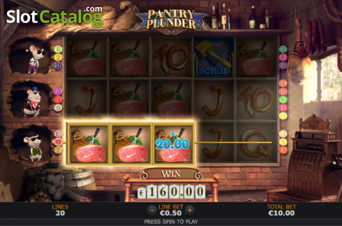 Win Screen 4. Pantry Plunder (Video Slot from SUNFOX Games)