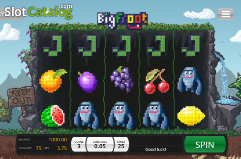 Game Workflow screen. Big Froot (Video Slot from Saucify)
