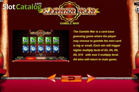 Képernyő13. Emperor Gate (Video Slot tól től Spadegaming)