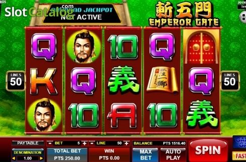 Képernyő2. Emperor Gate (Video Slot tól től Spadegaming)