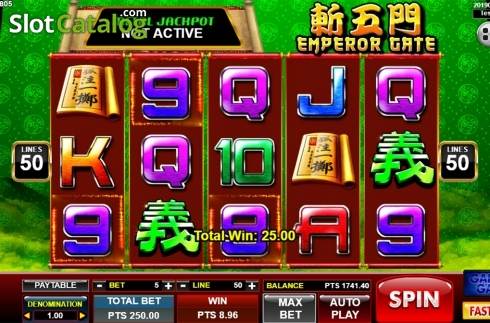 Képernyő3. Emperor Gate (Video Slot tól től Spadegaming)