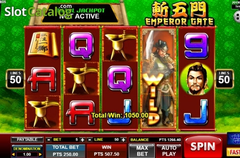 Képernyő4. Emperor Gate (Video Slot tól től Spadegaming)