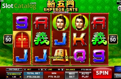 Màn4. Emperor Gate SA (Video Slot từ Spadegaming)