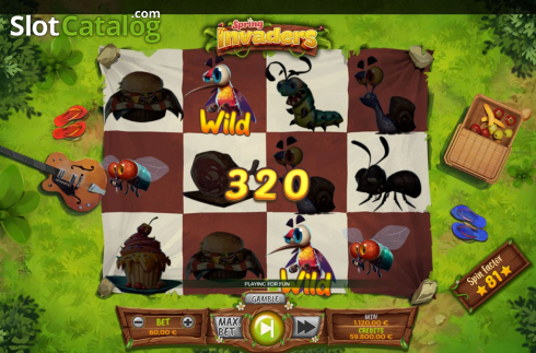 Win Screen 2. Spring Invaders (Video Slots from Spinmatic)