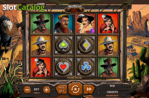 Reel Screen. Madame Moustache (Video Slots from Spinmatic)