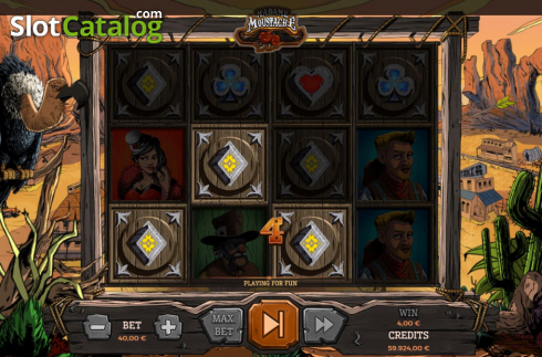 Win Screen 1. Madame Moustache (Video Slots from Spinmatic)