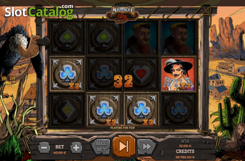 Win Screen 2. Madame Moustache (Video Slots from Spinmatic)