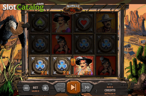 Win Screen 3. Madame Moustache (Video Slots from Spinmatic)